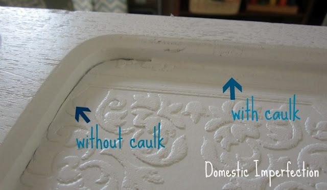 Caulk Filled Table Gaps