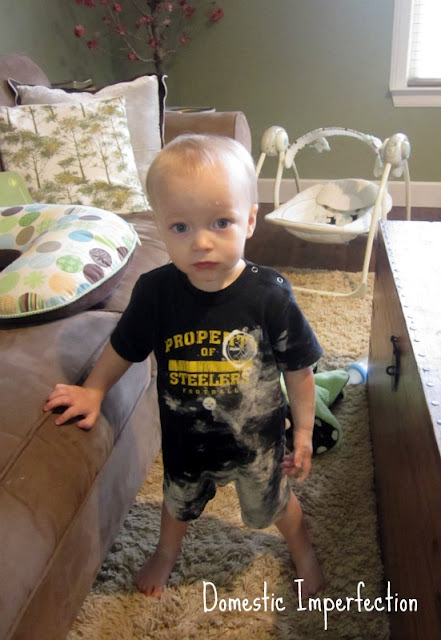 flour mess baby