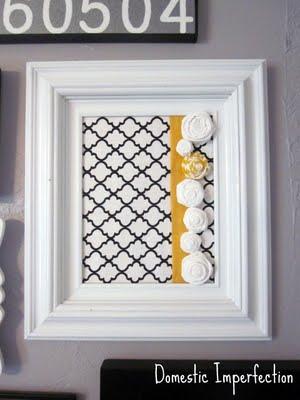 fabric rose frames