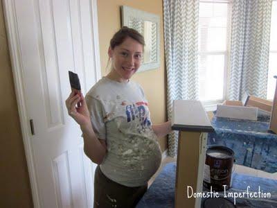 pregnant home renovator