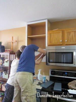 raised cabinets