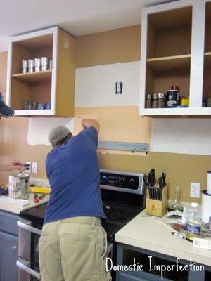 DIY cabinet remodel