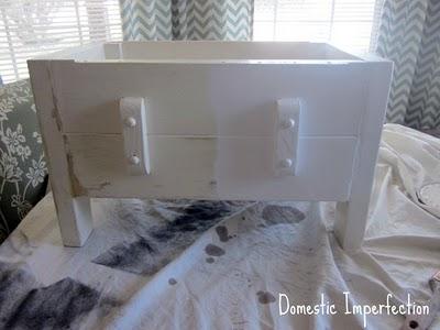 white furniture renovation