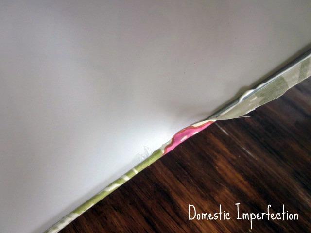 fabric glue lamp shade update