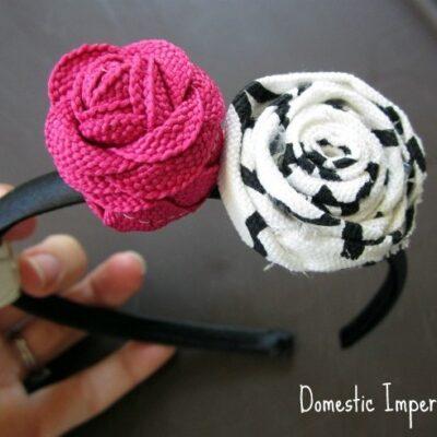 Fabric Scrap and Ric Rac Roses