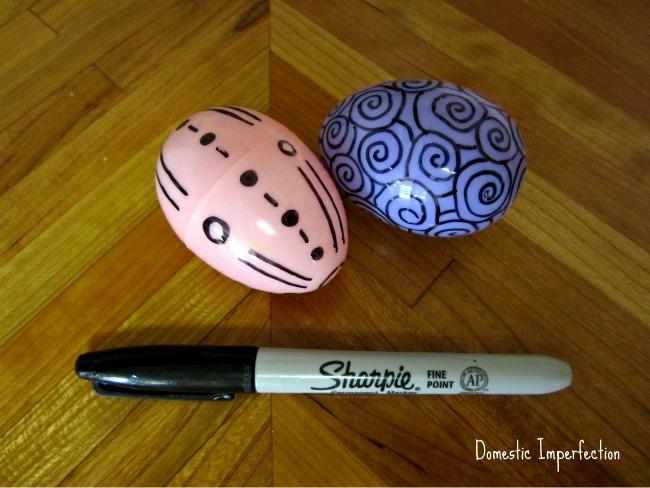 sharpie egg decorating