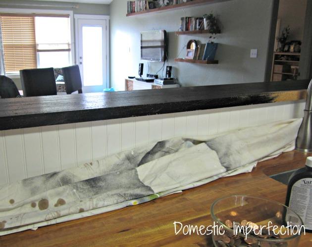 black countertop