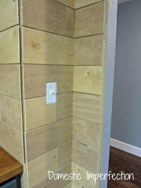 plank wall corner