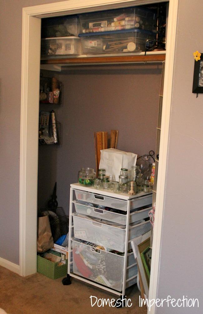 Craft Closet waiting to be organized