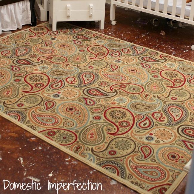 cowboy room paisley rug