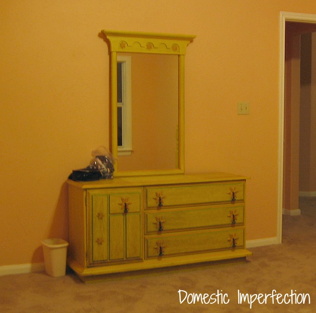 Yellow 70's dresser