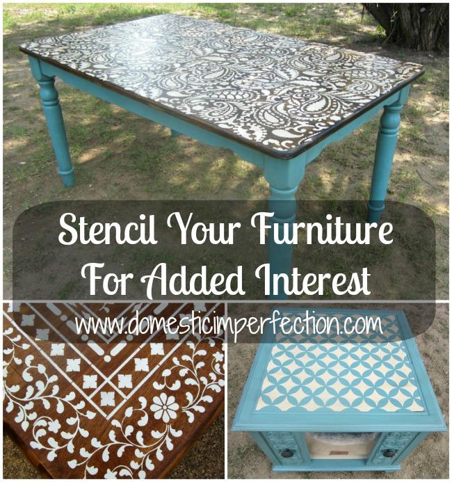 Stencil your furniture