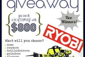 Enormous RYOBI Giveaway!