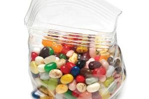 Ziplock candy dish
