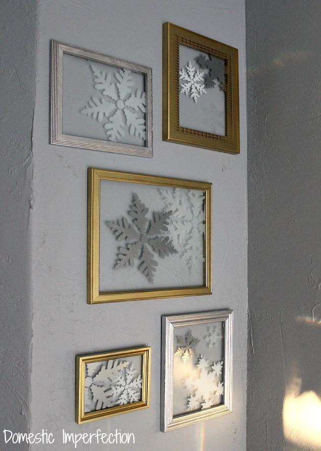 glass snowflake art