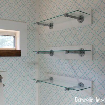Simple Industrial Pipe Shelving, Bathroom Edition