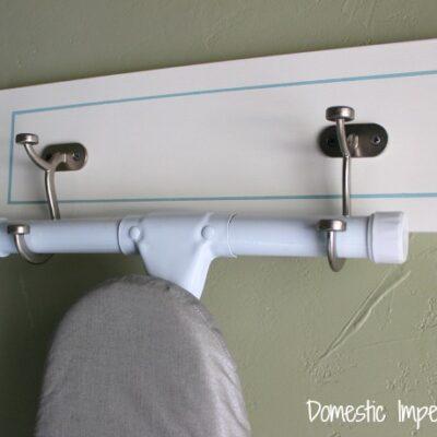 DIY Ironing Board Holder