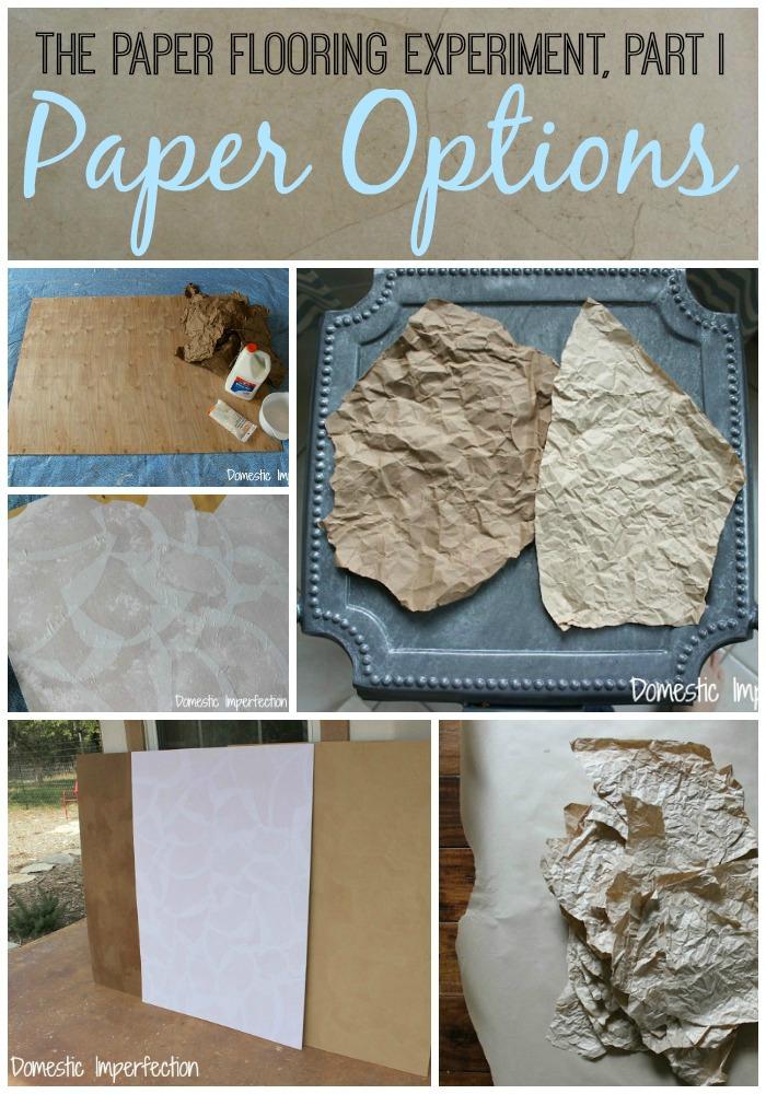 The Paper Bag Floor Series - Paper Options