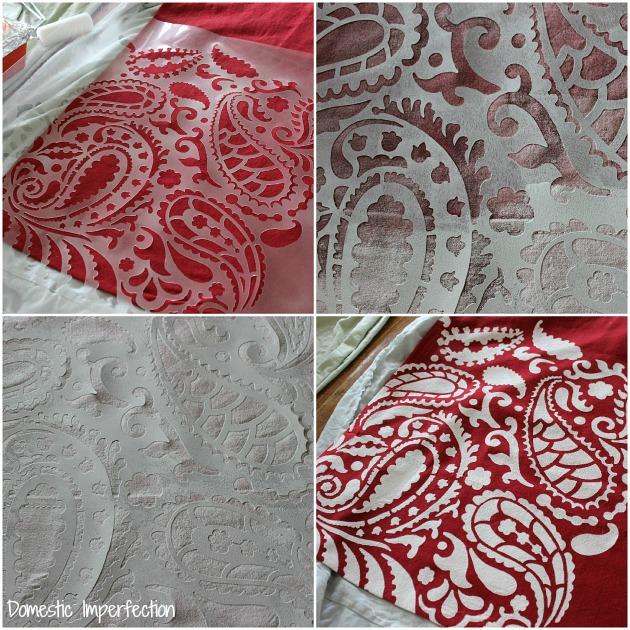 stenciling fabric