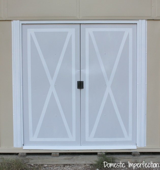painted X doors