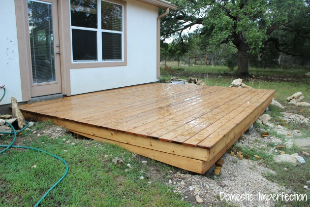 simple deck progress