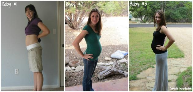 three pregnancies