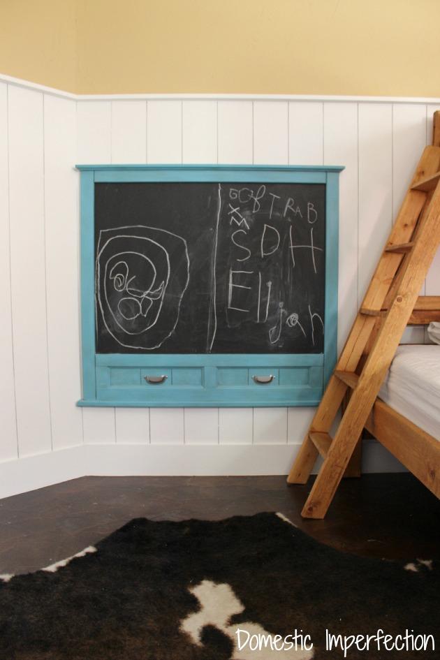 upcycled kids room chalkboard