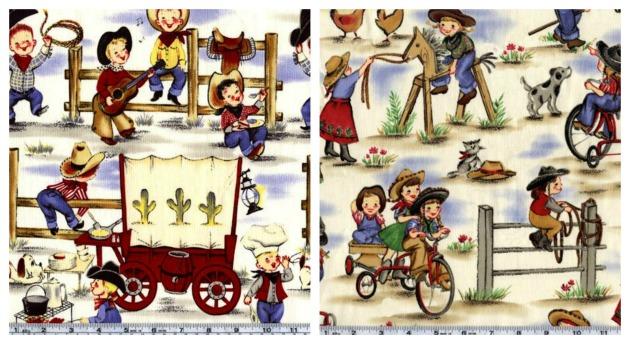 kids cowboy fabric