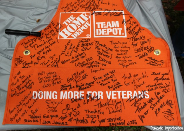 signed apron