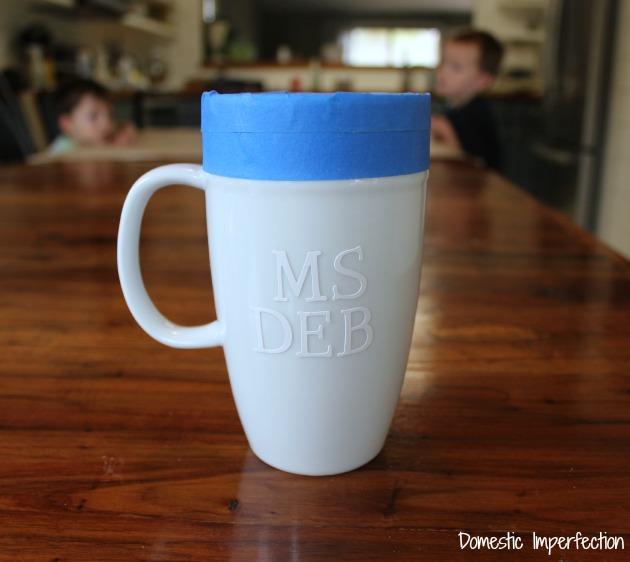 sharpie mug prep
