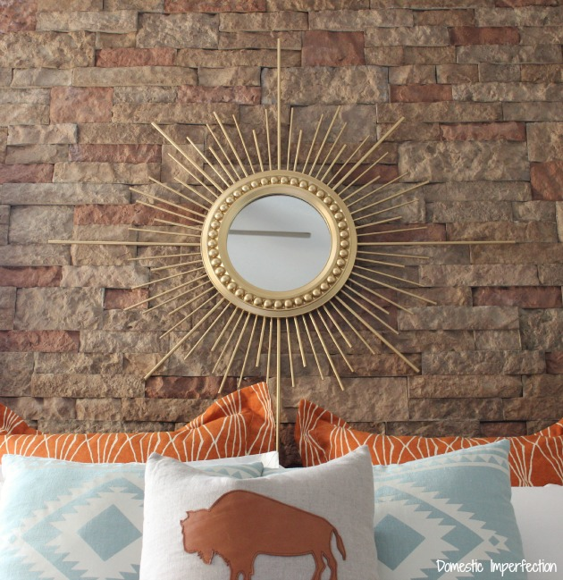 DIY gold sunburst mirror