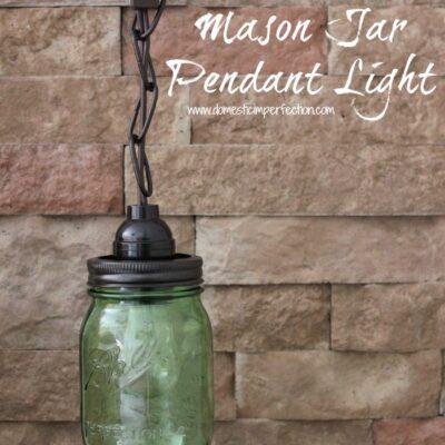 Mason Jar Pendant Light