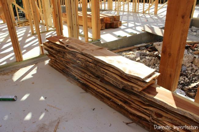 live edge cedar for porch strechers