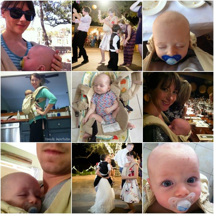 Ergo baby collage