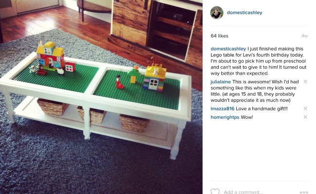 Lego Table - Instagram