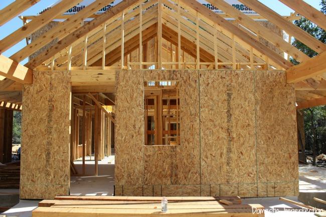plywood mudroom