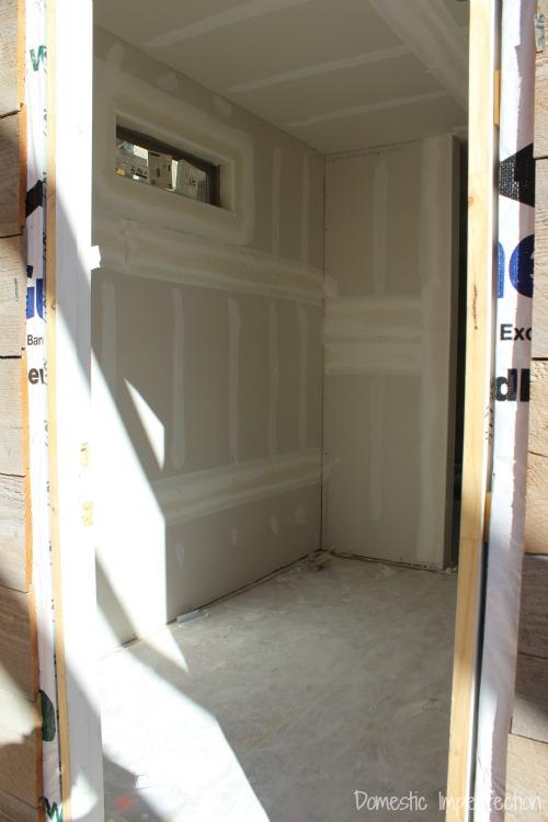 Drywall - mudroom
