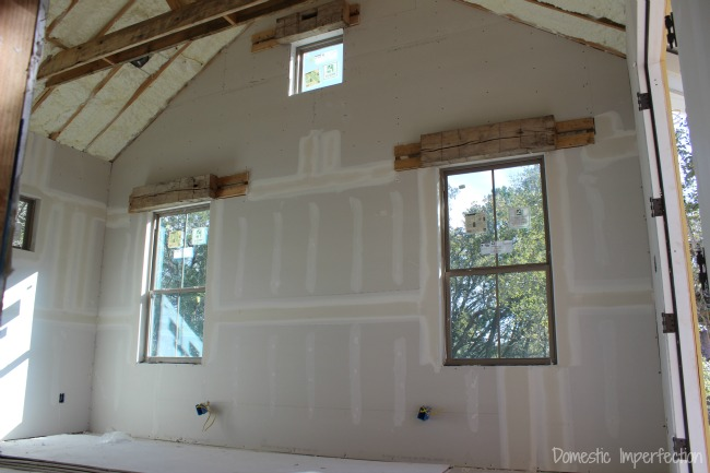 drywall - master bedroom