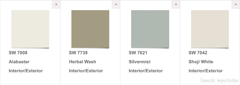 House palette so far