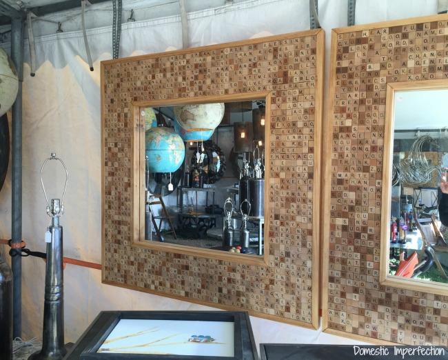 scrabble tile mirror frame