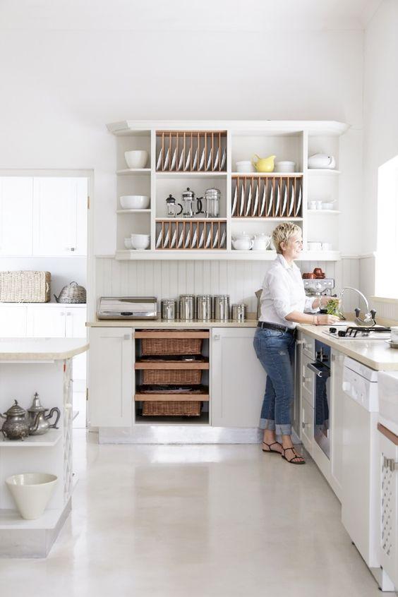 basket drawers in kitchen