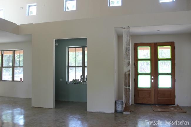 modern farmhouse interior progress