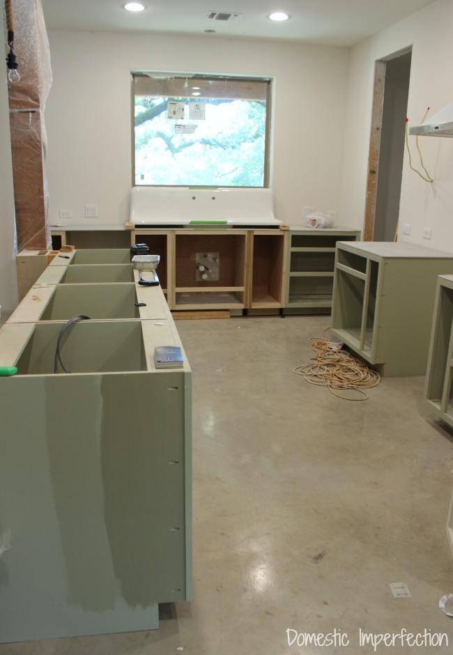 DIY custom kitchen progress