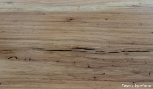 rustic wood island countertop