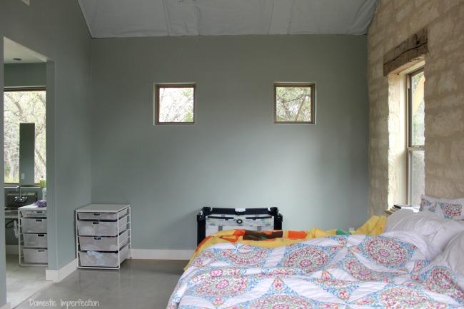 blank wall master bedroom