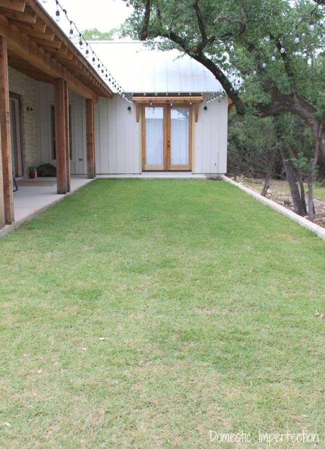 perfect backyard reveal