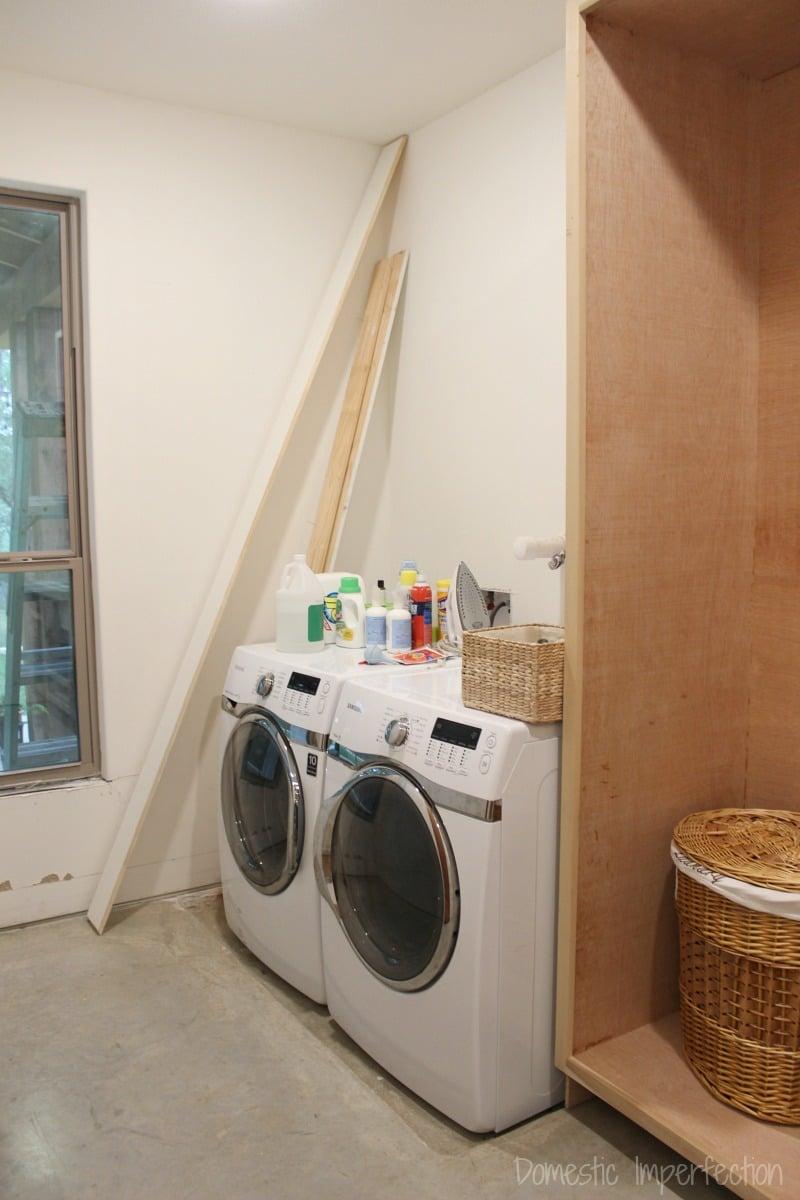 laundry room in progress