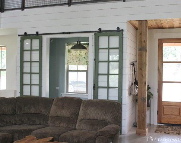 Double Sliding Barn Doors for the Office