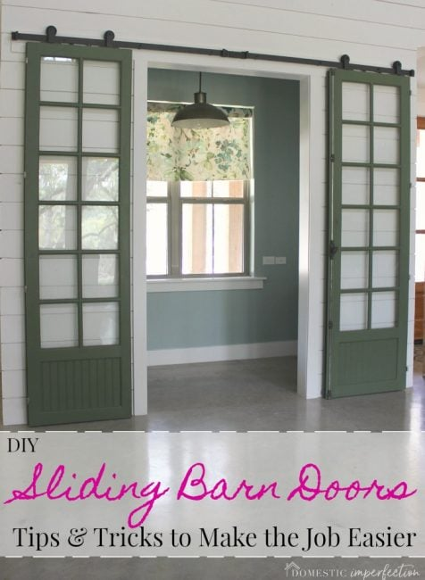 DIY sliding doors - tips and tricks to make the job easier