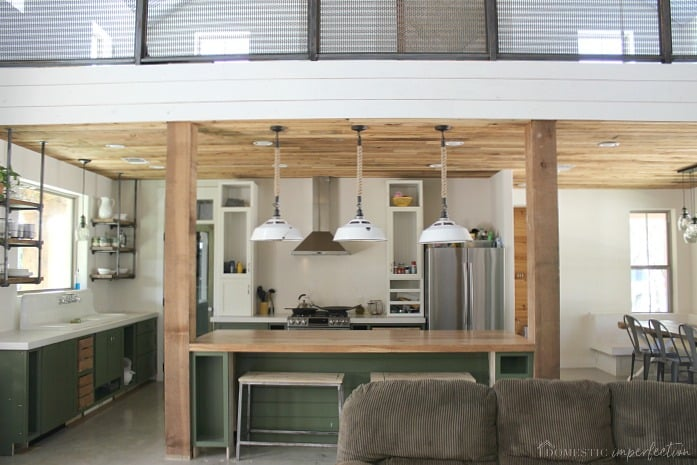 DIY kitchen progress - wood ceiling